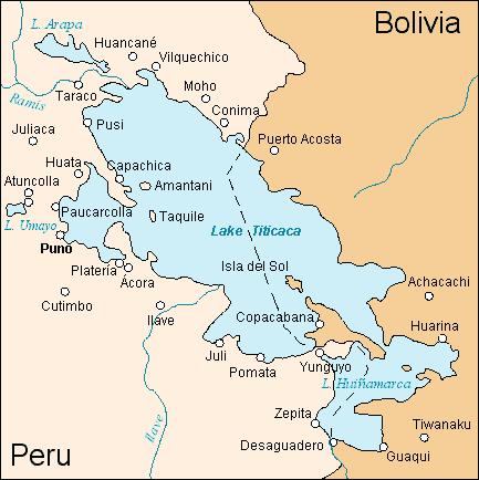 lac titicaca carte