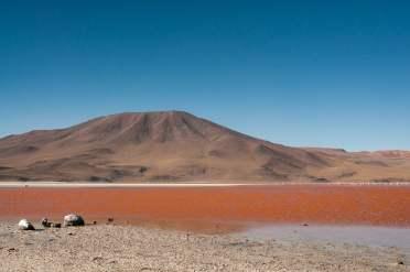montagne lagune rose