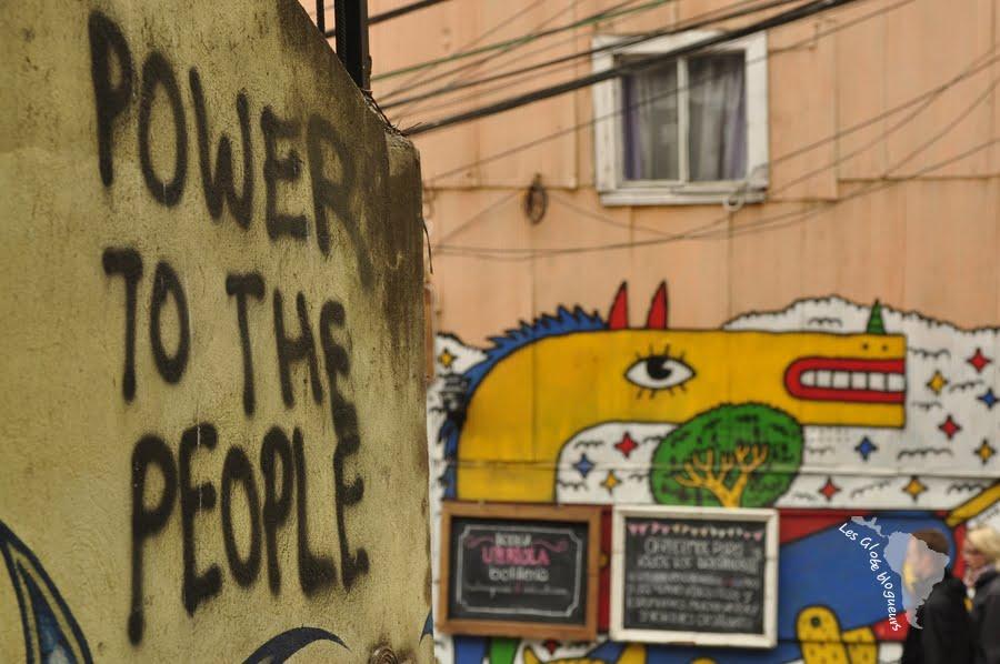 Exemple de revendication sur les murs de Valparaiso