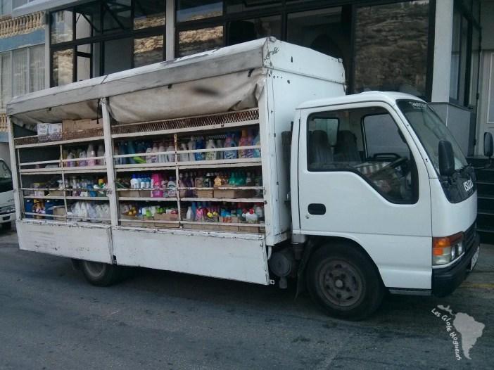 lessive camion système ambulant