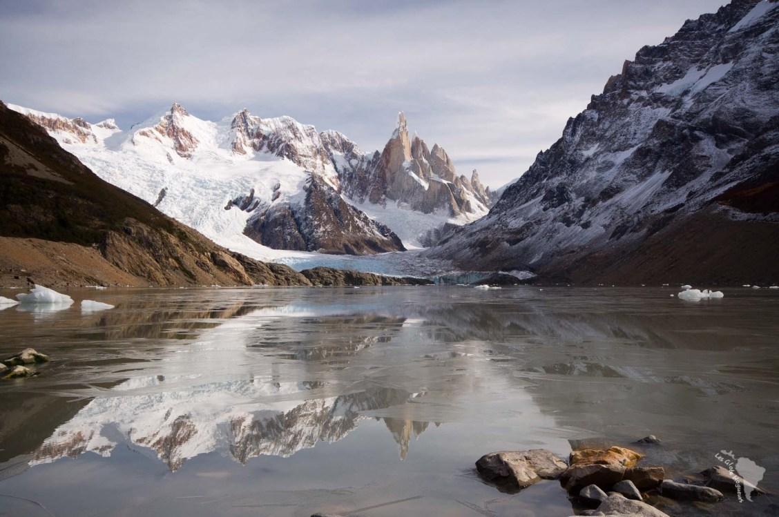 lagune torre glacier patagonie montagnes