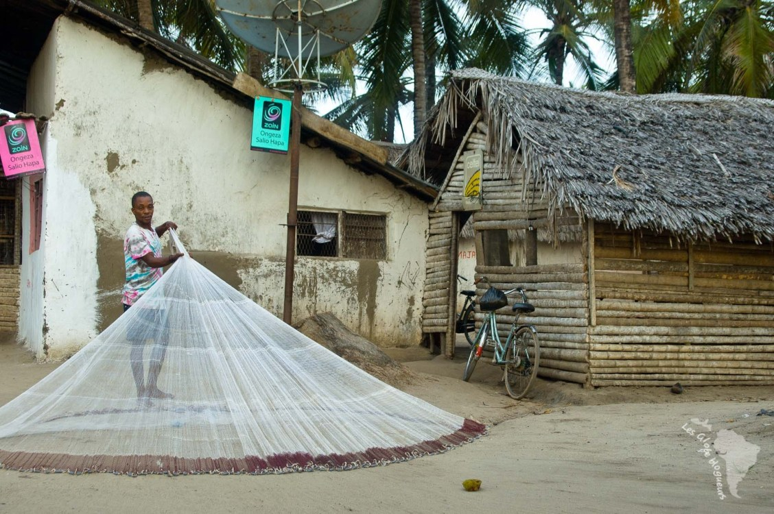 pêche filet tanzanie lancer