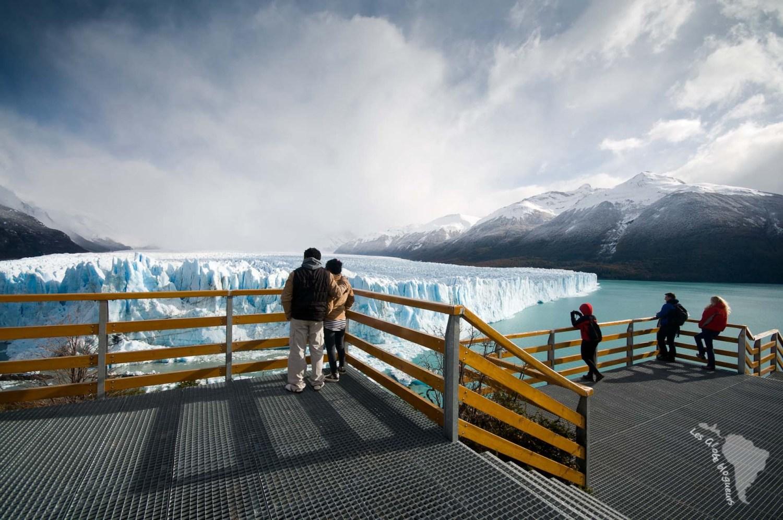 Perito moreno plateforme accès touristes