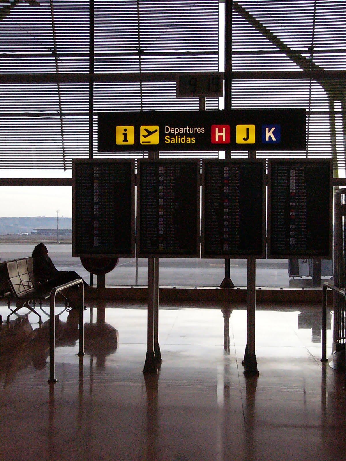 aeroport madrid panneau horaires