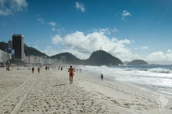 Plage de Cobacabana au Brésil