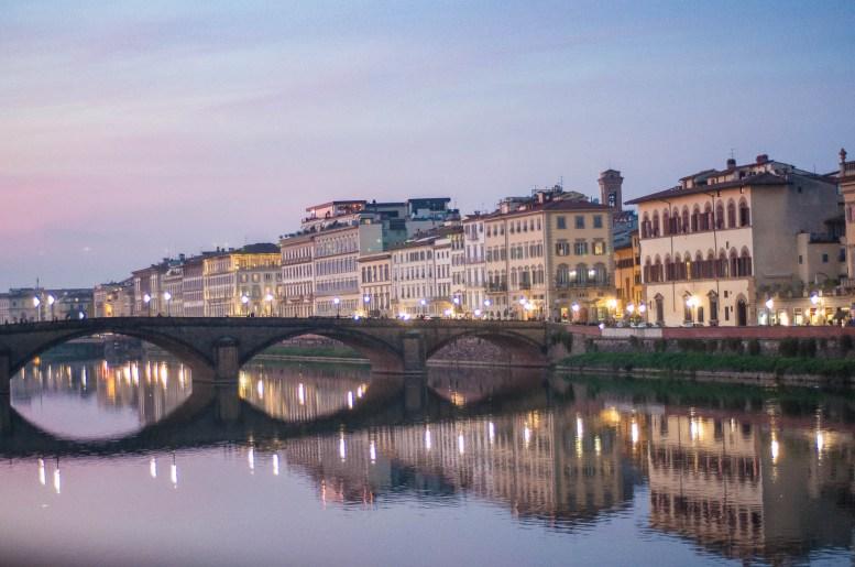Coucher de soleil sur l'Arno