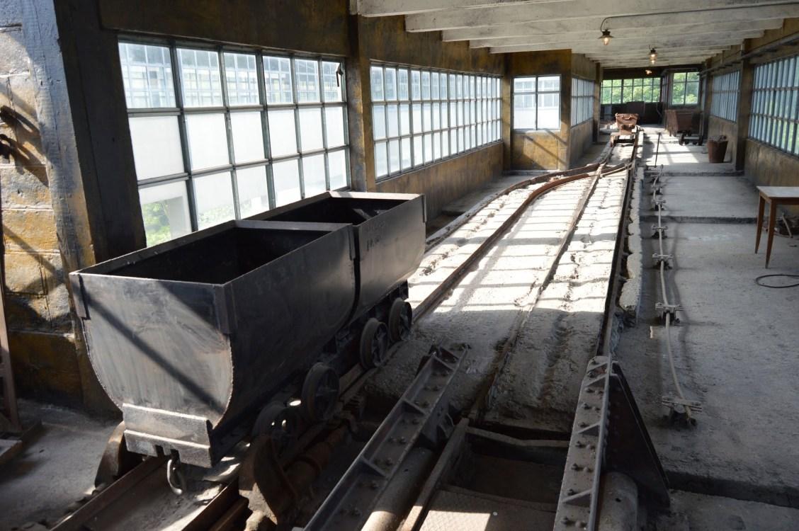 Dans la tour de triage et de lavage de Blegny-Mine