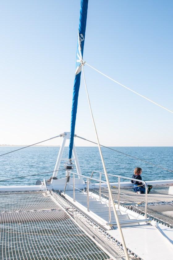 Setubal catamaran petite fille
