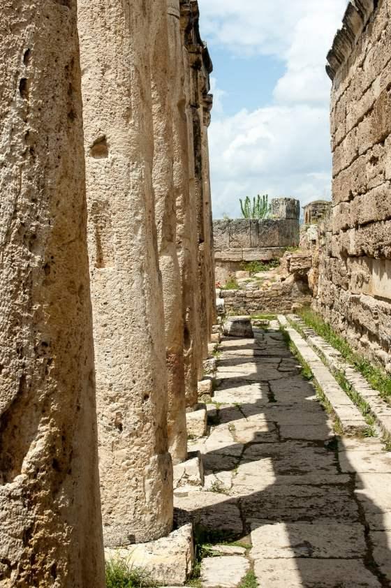 Pamukkale hierapolis colonne