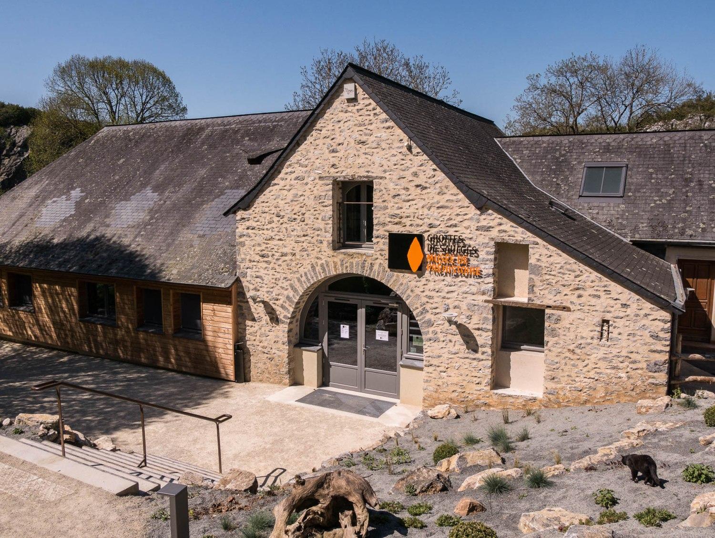 L'entrée du musée de préhistoire de Saulges