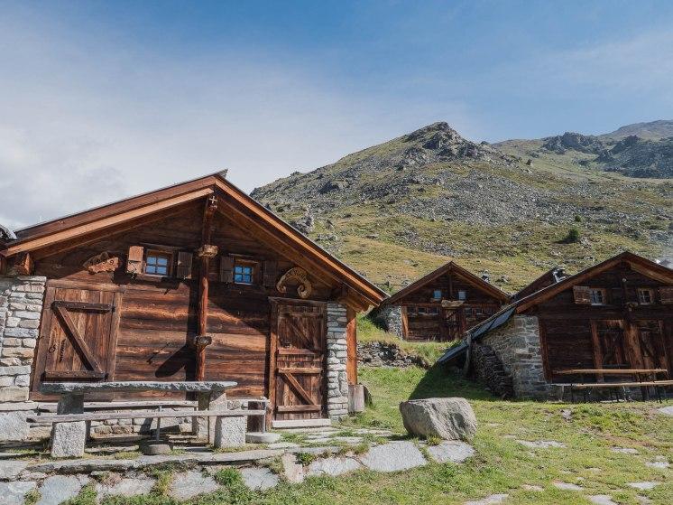 alpage de l'A vieille val d'herens suisse près de Saint Martin