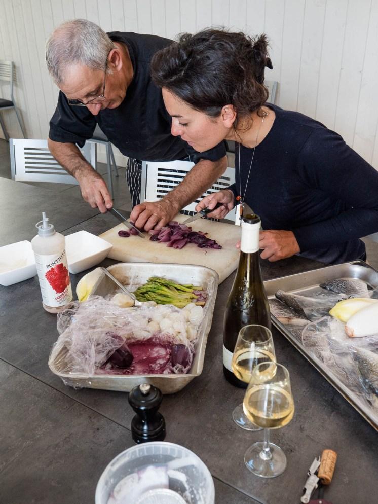 Atelier cuisine avec les produits locaux et le vin d'Aubance et Anjou village - Angers
