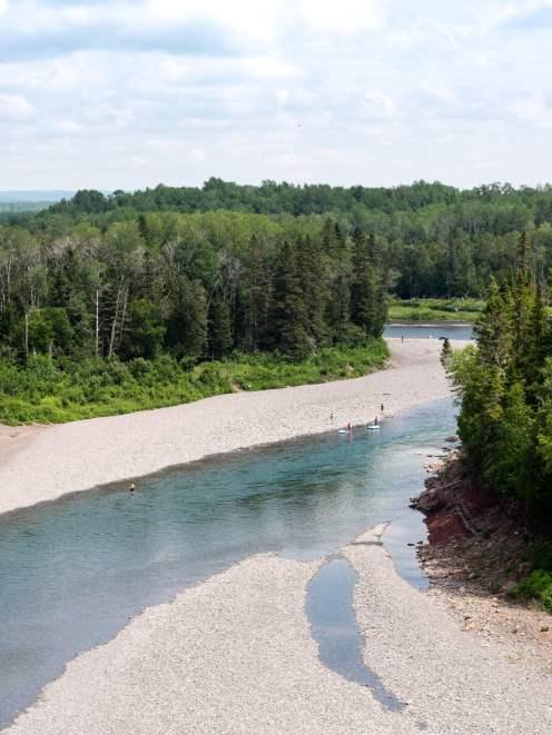 belvédère du malin sur la rivière Bonaventure dans la baie des chaleurs