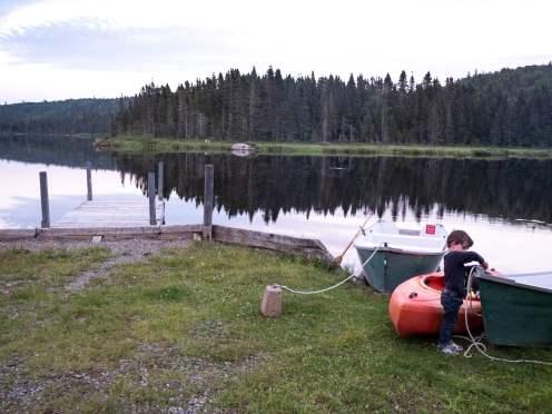 lac à la réserve faunique