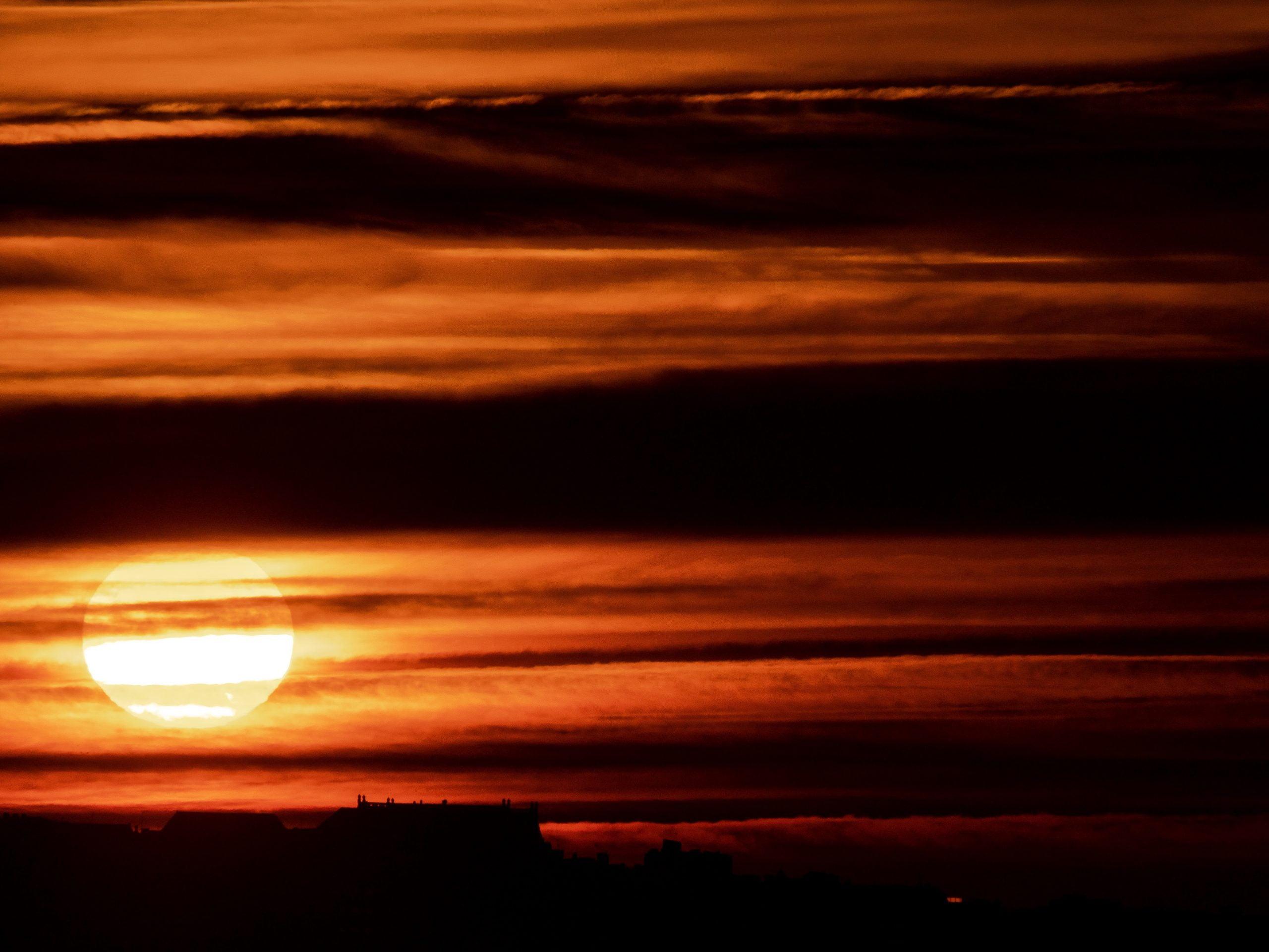 coucher de soleil houlgate