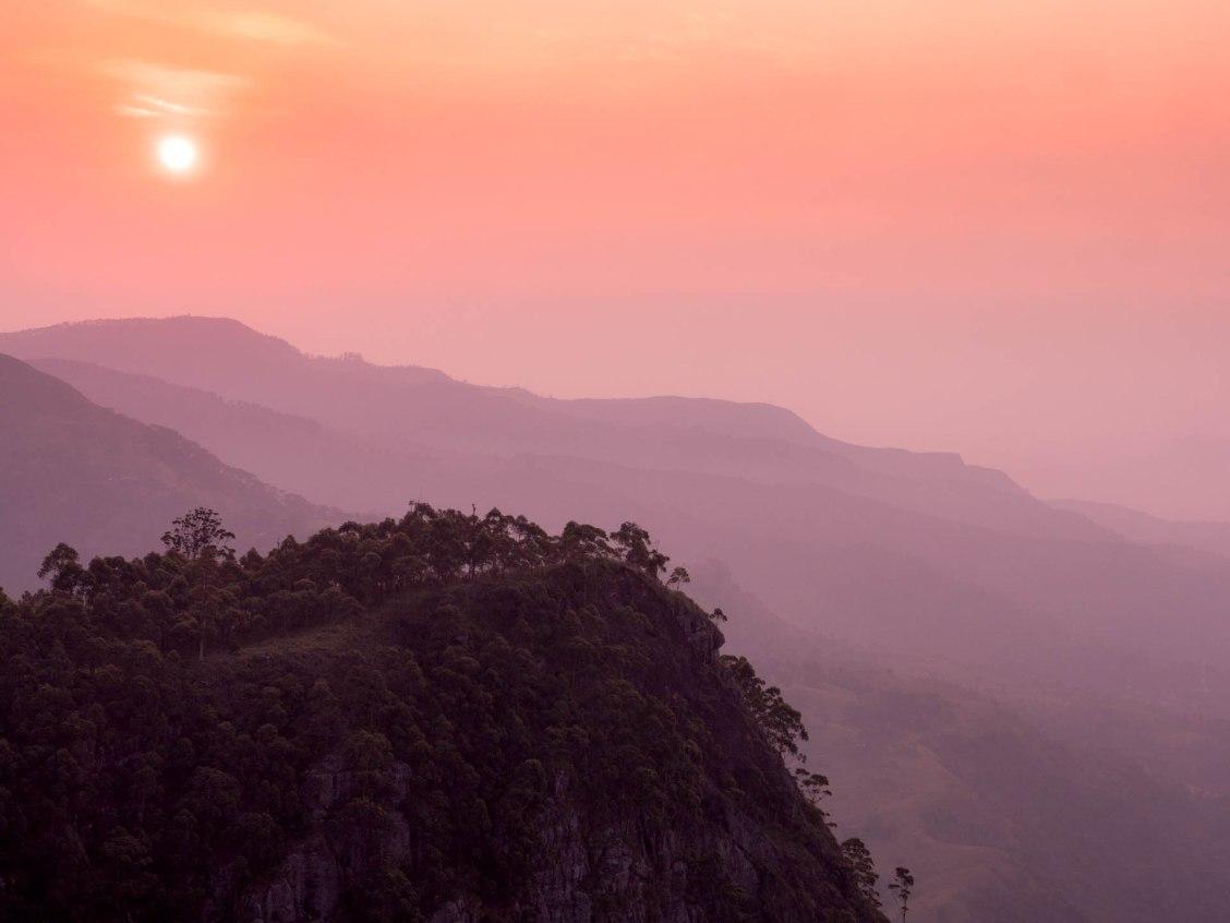 Haputale lever soleil montagne bis