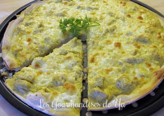 Pizza poulet-curry de Nico
