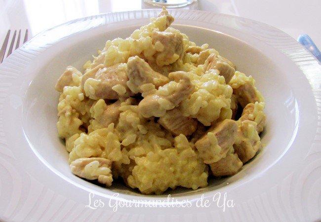 Dinde et riz au curry et lait de coco LGY
