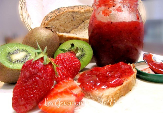 Confiture fraise-Kiwi