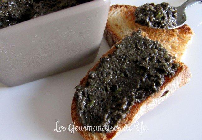 Tapenade d'olives noires (sans câpre) LGY