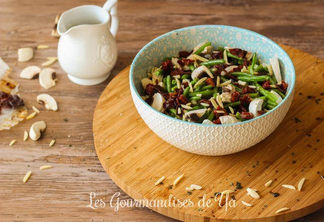 Salade de haricots verts, tomates séchées et basilic LGY 02