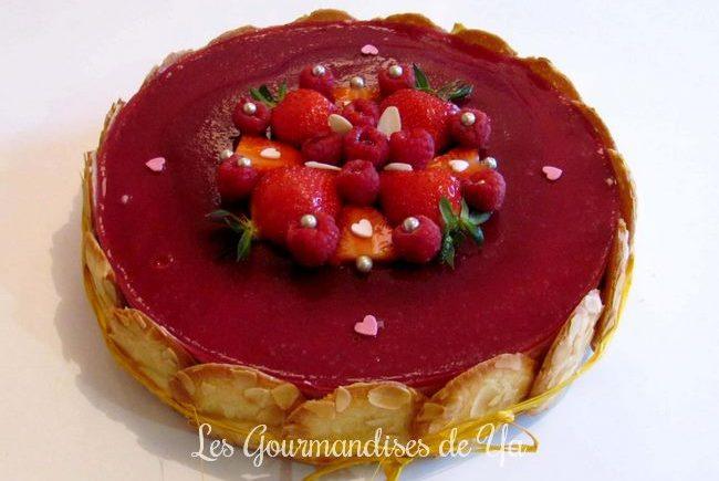 Entremets fraise - framboise et citron LGY 01