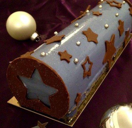 Bûche Cassis - Chocolat LGY