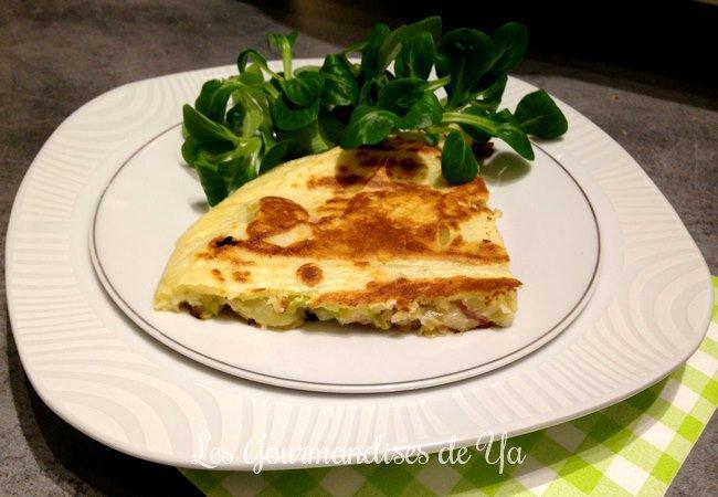 Crêpe Boursin, pomme de terre, poireau et lardons LGY