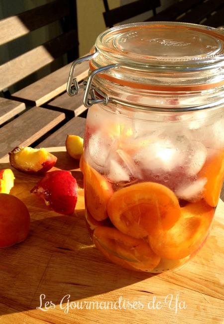 Eau de fruits : pêche-abricot LGY 01