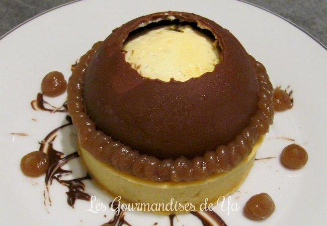 Tartelette vanille, marron et chocolat façon MontBlanc LGY 01