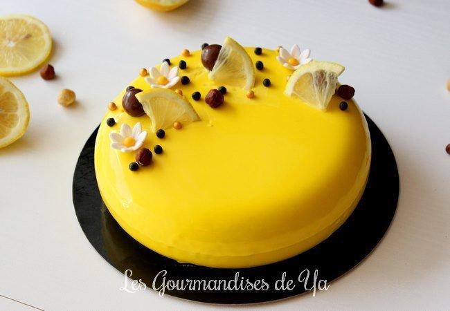 Entremets citron - noisette