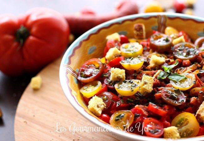 Salade de tomates, chorizo et bacon LGY 01