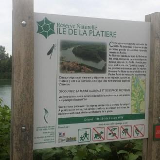 L'île de la Platière...