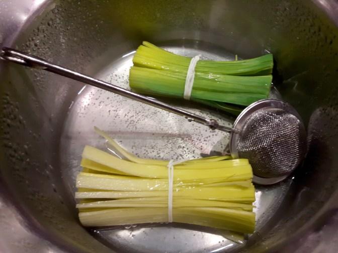 Poireau infusé au thé vert yuzu...