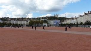 Place Bellecour, où se trouve l'office de tourisme