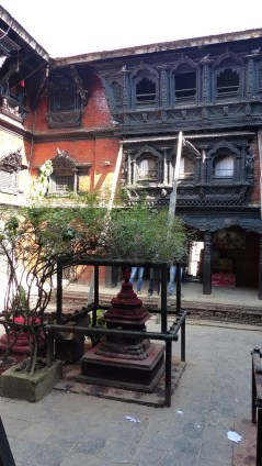 Mini Stupa dans la Kumari Chowk, cour intérieure du Kumari Bahal