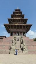 Temple de Nyatapola, dédié à Siddhi Lakshmi, une incarnation sanguinaire de Parvati (épouse de Shiva)