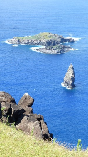 Le petit îlot qu'il fallait atteindre lors de la compétition de Tangata Manu