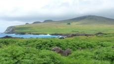 Vue sur le flanc Nord du volcan Poike