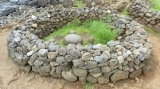 Cette pierre ronde (Tepito O Te Henua) représente le centre du monde