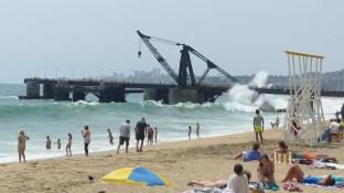 Malgré la taille des vagues, il y a foule!