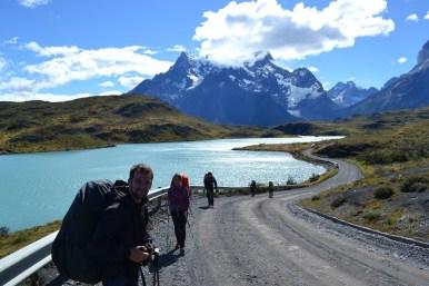 Sur la route vers le camping Pehoé