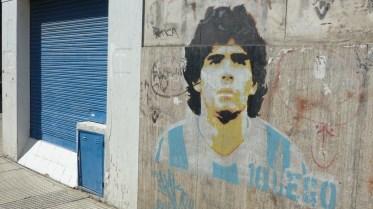 Dans le quartier de La Boca, Mardona est encore vénéré