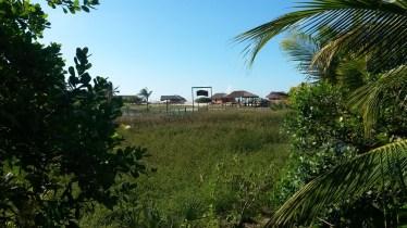 La vue depuis notre bungalow à Atins