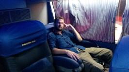 Trop confortable le bus!