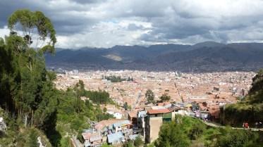 Au sommet de la colline, vue sur Cusco