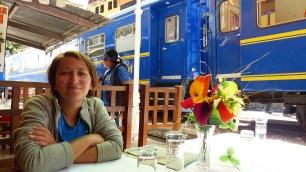 On peut prendre le train dès la sortie du restaurant!