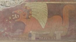 Les archéologues voient un puma à plumes, nous on voit un lion! (Palacio de Tetitlan)