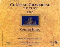 Chateau Gravereau Le Clos 2005 (coll)_wp