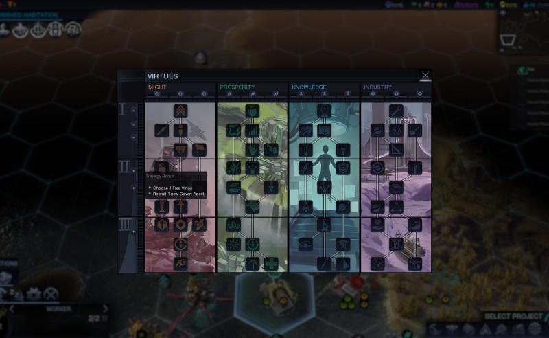 Civilization Beyond Earth — Первый синергетический бонус второго уровня дающий 1 шпиона
